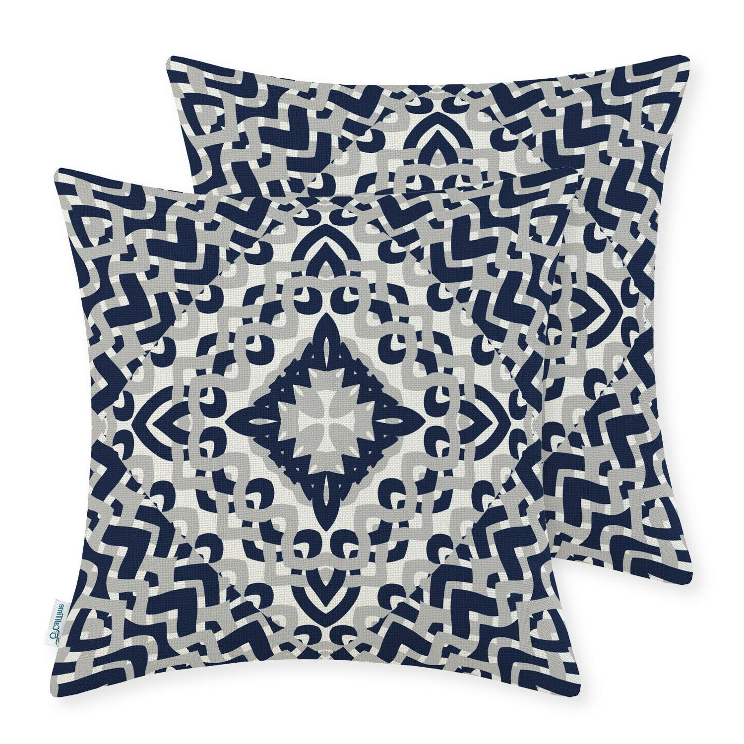 CaliTime Throw Pillows Cushion Covers Shells Home Geometric 18x18""