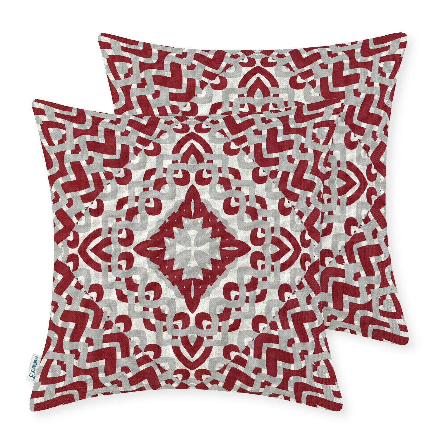 CaliTime Throw Covers Decor Geometric 18x18""