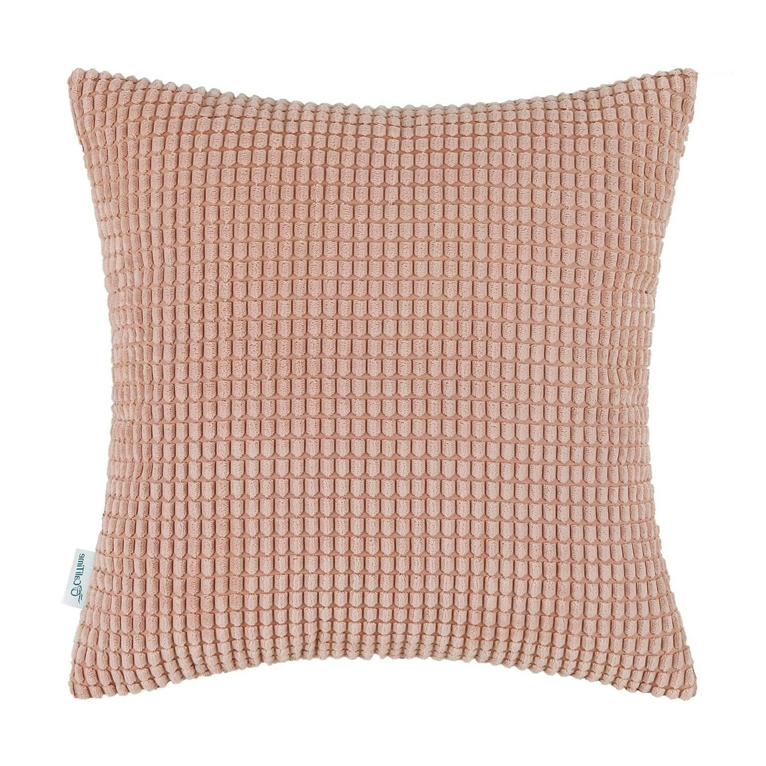 """CaliTime Pillows Covers Soft Corn Stripes 26"""" 26"""""""