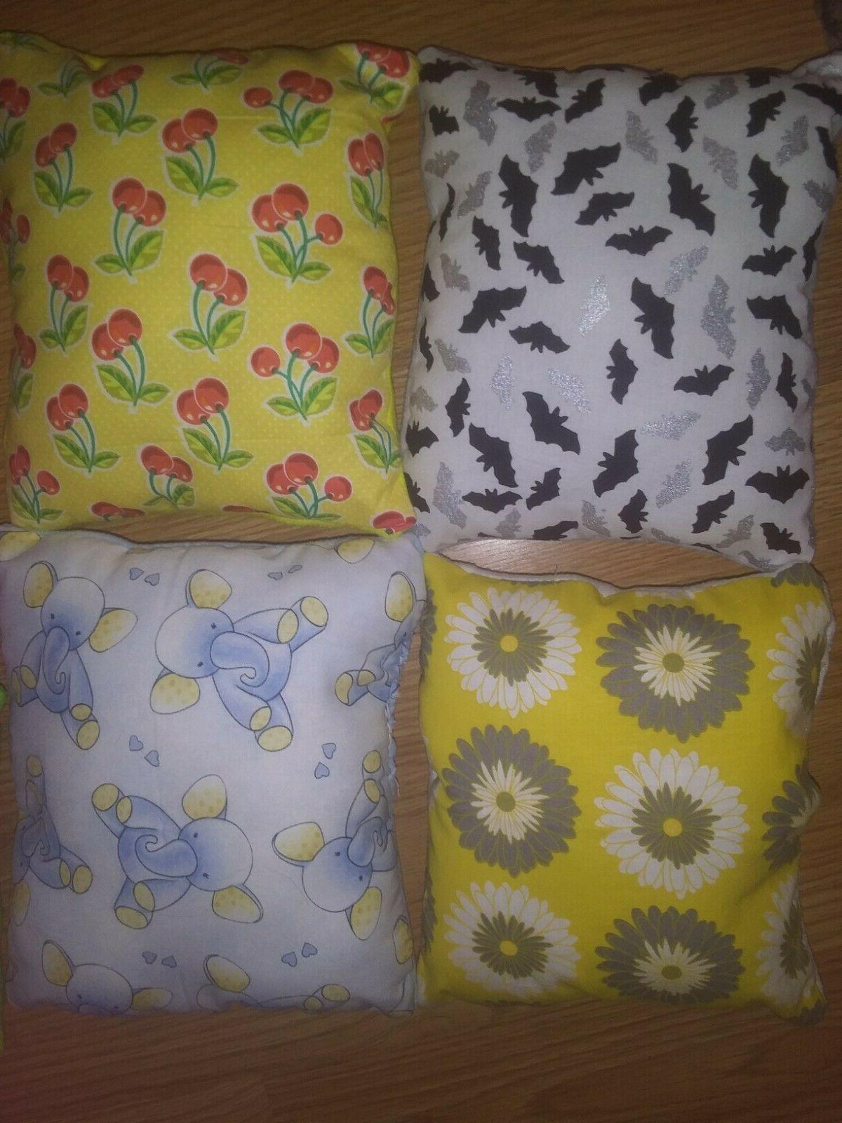 handmade throw pillows cotton solid colors on side