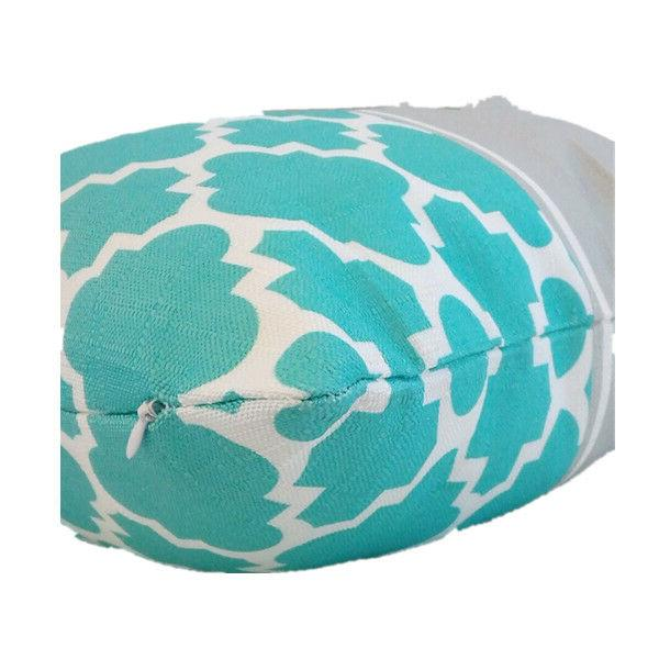 """Turquoise White PILLOW Sofa Couch Geometric 18x18"""""""