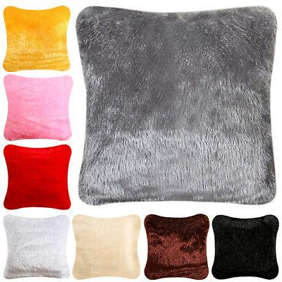 US Fur Cushion Cover Sofa Decor