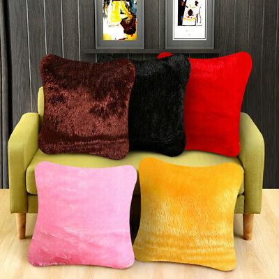 US Fluffy Fur Plush Pillow Case Shaggy Soft Cushion Throw Decor new