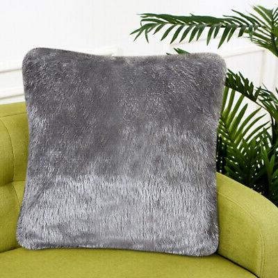 US Fluffy Fur Pillow Case Shaggy Cushion Decor