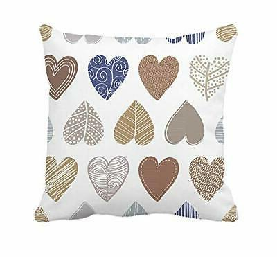 valentine s day throw pillow cover colorful