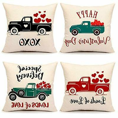 valentine s day throw pillow cover flower