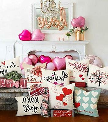 4TH Emotion Valentine's Day Throw Pillow Red Sweet Cushion Case for