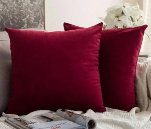 velvet soft decorative throw pillow cover case
