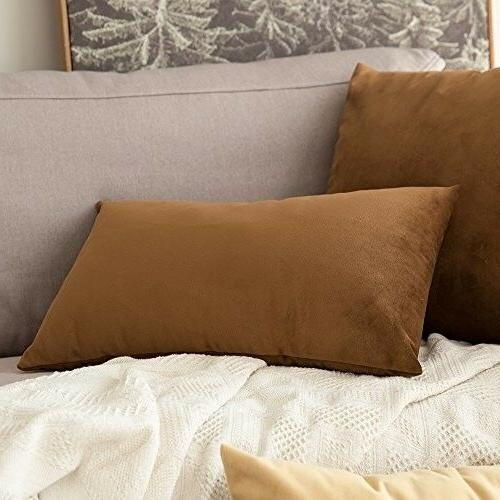 MIULEE Decorative Square Throw Pillow Covers