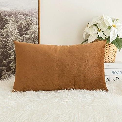velvet soft soild decorative square throw pillow