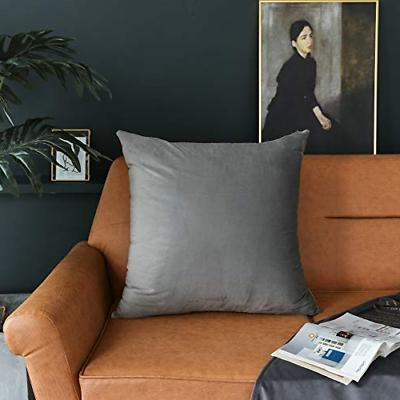 Kevin Textile Velvet Soft Solid Decorative Square Throw Pill