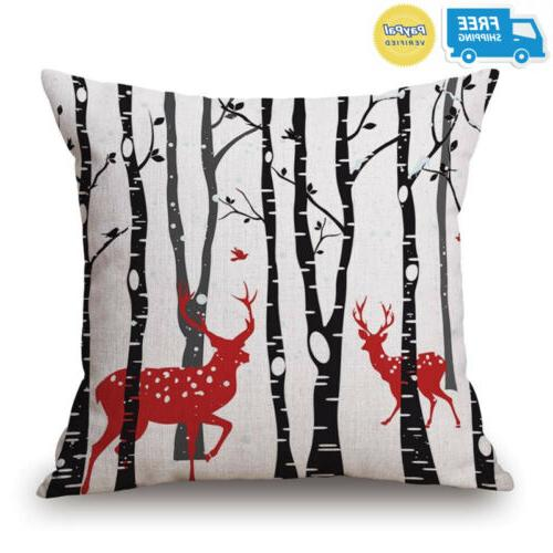 BLUETTEK Christmas Throw Pillow Covers of 4, Accent