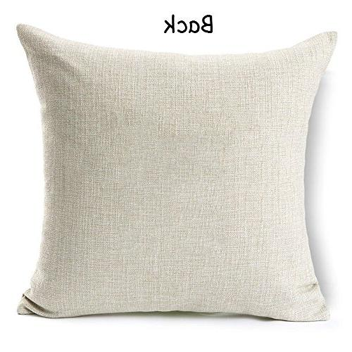 Acelive Farmhouse Burlap Pillowcase Cover For Sofa Bedroom Living Holiday