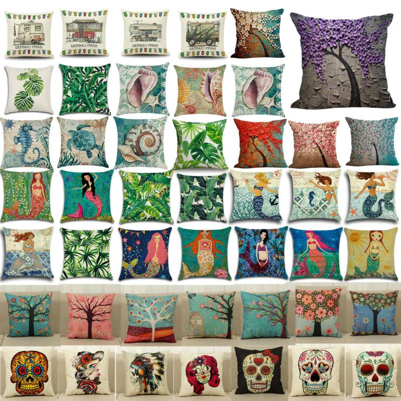 vintage throw pillow case square cushion cover