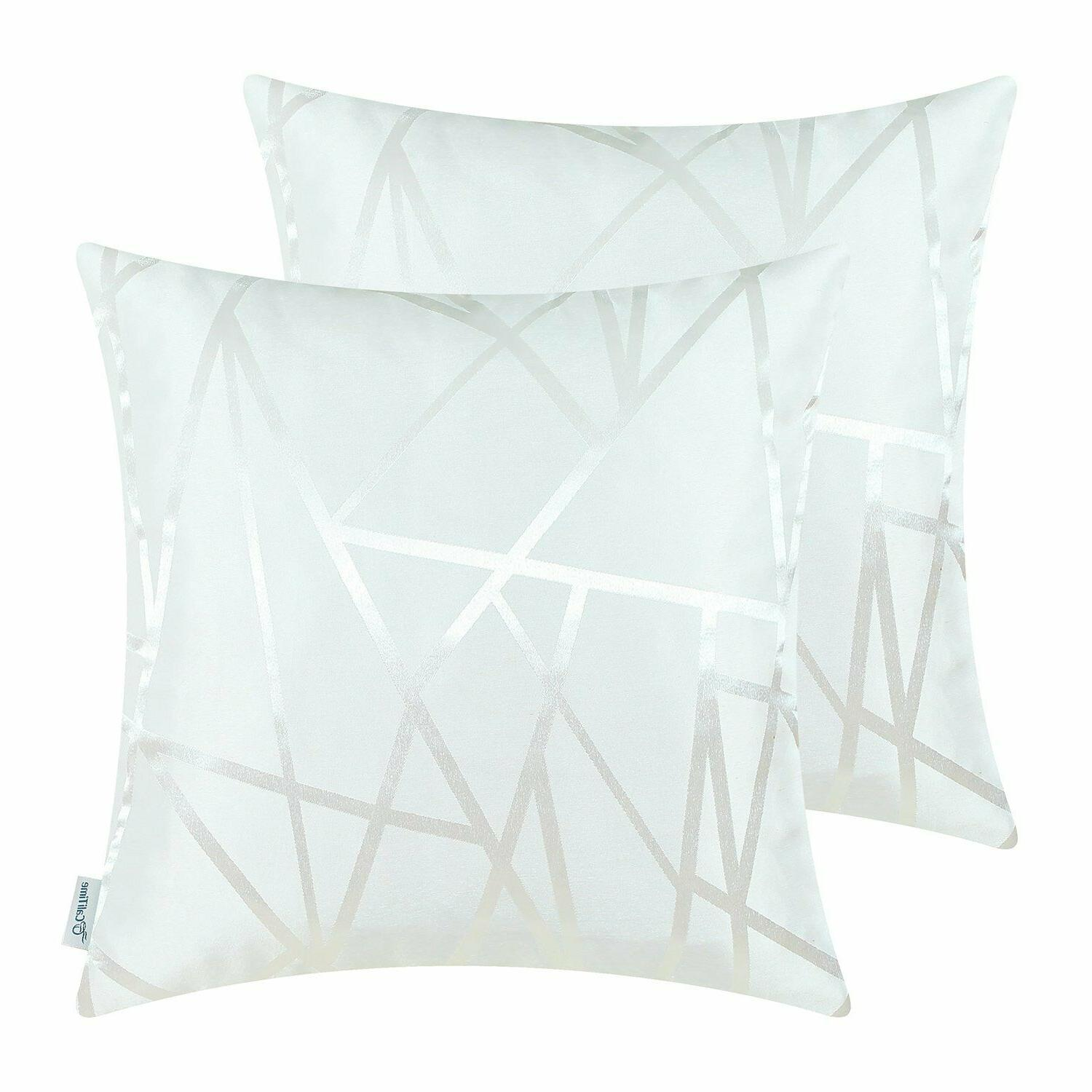 white throw pillow covers modern contrast abstract