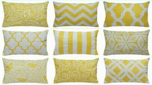 yellow accent throw pillow cover sofa couch
