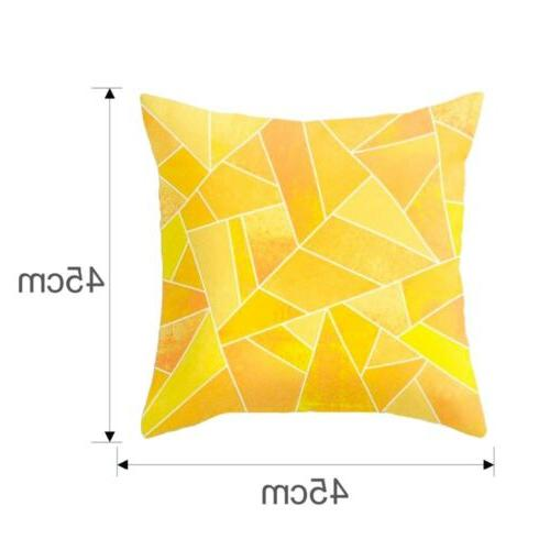 Yellow Sofa Car Waist Cushion Cover USA