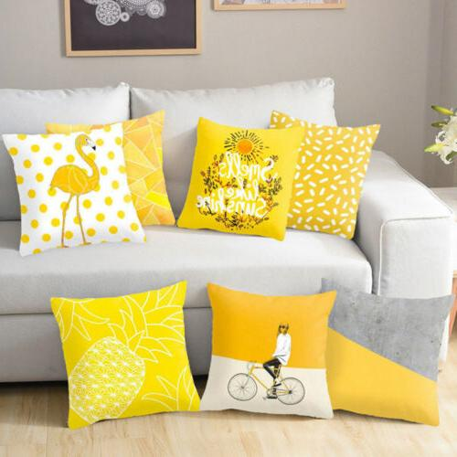 Yellow Pillow Case Sofa Car Cushion Home USA