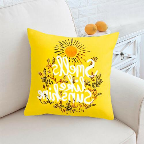 Yellow Polyester Sofa Cushion Home