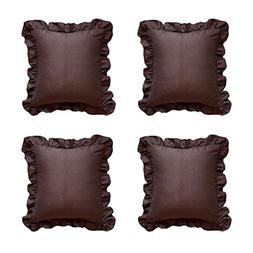 Lace Flouncing Throw Cushion Cover Set of 4 Decorative Handm