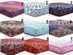 Large Mandala Floor Pillow Throw Square Sofa Cushion Covers