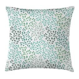 Ambesonne Leaf Throw Pillow Cushion Cover, Pattern with Leaf