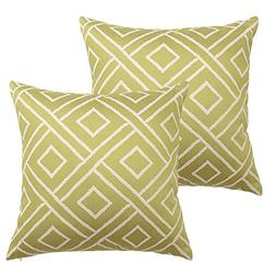 HOMFINER Lime Green Soft Solid Geometric Elements Decorative