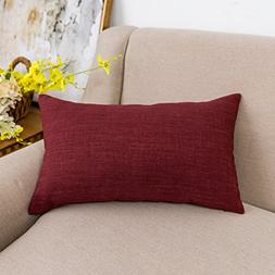 Jeanerlor Lined Linen Throw Pillow Cover Cushion Case from H