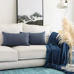 HOME BRILLIANT Lined Linen Throw Pillow Covers Decorative Ob