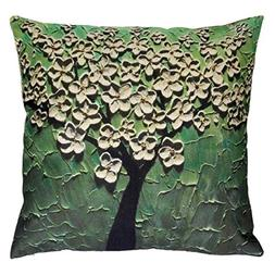Vovomay Linen blend Home Decorative Throw Pillow Cover Cushi