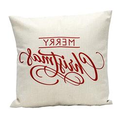 Linen Pillow Cover, Kimloog Vintage Merry Christmas Sofa Bed