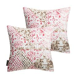 Phantoscope Living Series Set of 2 Red Throw Pillow Case Cus
