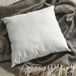 "Lot of 10 – White Throw Pillow Inserts – Square 16"" x"