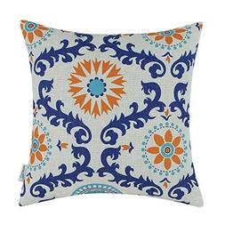 Lot of 2 NEW CaliTime Cushion Throw Pillow Cover-Turquoise B