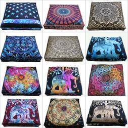 "Lots of 35"" Indian Mandala Large Square Cushion Cover Cotton"