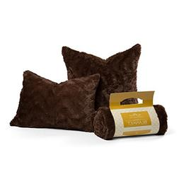 Chateau by Sheri Luxurious Faux Fur  Pillows and   Throw Bla