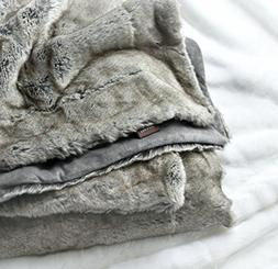Luxury Faux Fur Throw Blanket Super Soft Oversized Thick War