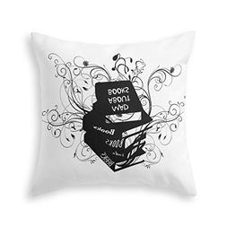 Society6 Mad About Books Throw Pillow Indoor Cover  with pil
