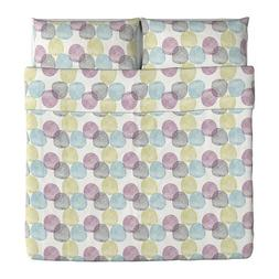 Ikea Malin Rund Duvet Cover and Pillowcases, King, Multicolo