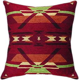Manual Woodworkers & Weavers Tapestry Throw Pillow,  Flame,