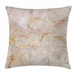 Ambesonne Marble Throw Pillow Cushion Cover, Mine Pattern De
