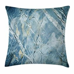 Ambesonne Marble Throw Pillow Cushion Cover, Exquisite Grani