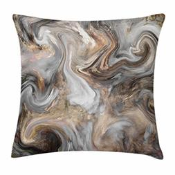 Ambesonne Marble Throw Pillow Cushion Cover, Retro Style Pai