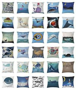 Marine Whale Throw Pillow Cases Cushion Covers Ambesonne Hom