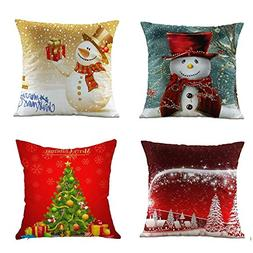Acelive 20 x 20 Inches Merry Christmas Series Throw Pillow C