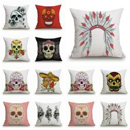 mexican indiana decorative sugar skull art throw