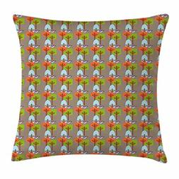 Ambesonne Mid Century Throw Pillow Cushion Cover, Flying Hum