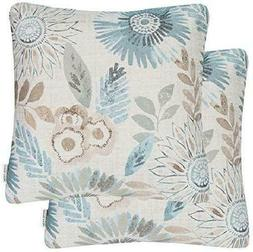 Mika Home Pack of 2 Decorative Throw Pillows Cases Cushion C