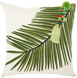 Mina Victory by Nourison NS599 Royal Palm Left Tassel Throw