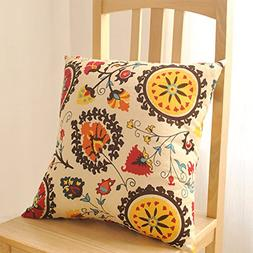 Aothpher Modern Boho Floral Pattern Holiday Throw Pillow Cov